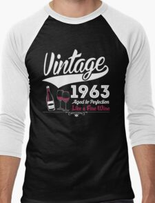 Vintage 1963 Aged To Perfection Like A Fine Wine T-Shirt