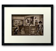 "☜ ☝ ☞ ☟ SALOON ""THE FIGHTING SIDE OF ME"" ☜ ☝ ☞ ☟  Framed Print"