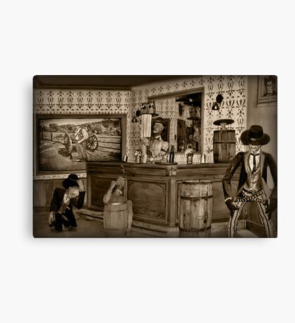 """☜ ☝ ☞ ☟ SALOON """"THE FIGHTING SIDE OF ME"""" ☜ ☝ ☞ ☟  Canvas Print"""