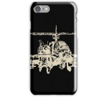 AH-64 Apache Helicopter Drawing iPhone Case/Skin