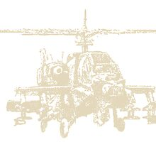 AH-64 Apache Helicopter Drawing by rott515