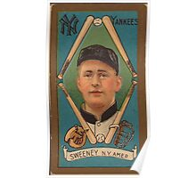 Benjamin K Edwards Collection Edward Sweeney New York Yankees baseball card portrait Poster