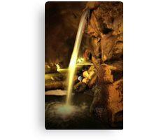 Undergound Waterfall Canvas Print