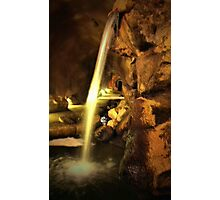 Undergound Waterfall Photographic Print