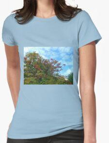 Colours Of Autumn Womens Fitted T-Shirt