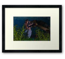 Aquatic Touch Framed Print