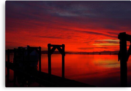Hat Island Ferry at Sundown by Dale Lockwood