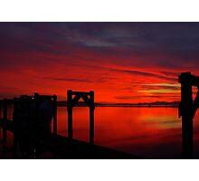 Hat Island Ferry at Sundown Photographic Print