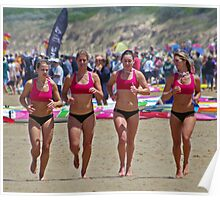 Port Campbell girls warm up Poster