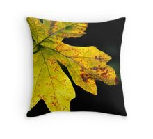 maple leaf in the sun Throw Pillow