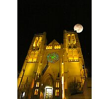 Grace Cathedral and the Full Moon Photographic Print