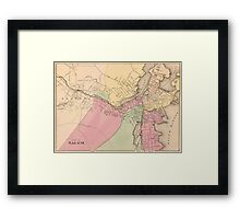 Vintage Map of Salem Massachusetts (1871) Framed Print