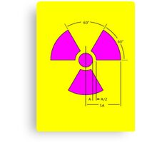 Warning Radiation Sign Template Canvas Print