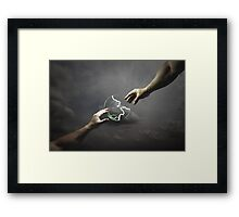Keeping in Touch the Almighty's Way Framed Print