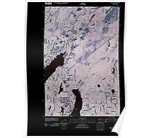 USGS Topo Map Washington State WA Belfair 20110422 TM Inverted Poster