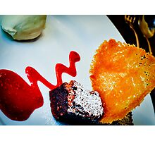 Sublime Chocolate and Almond Dessert Photographic Print