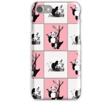 Pandas Checker - Pink iPhone Case/Skin