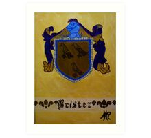Brister - Coat of Arms Art Print