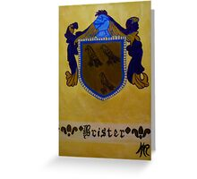 Brister - Coat of Arms Greeting Card
