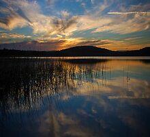 Cabarita Beach Lake sunset by dbax