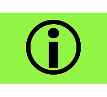 Information Symbol - Green Photographic Print