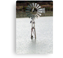 Windmill in the water Canvas Print