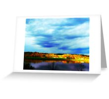 Ohio River Serenity ~ Morning Coffee On The Deck Greeting Card