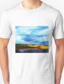 Ohio River Serenity ~ Morning Coffee On The Deck Unisex T-Shirt