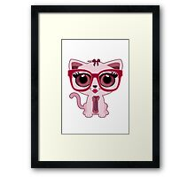 Kitten Nerd Framed Print