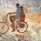 Girls on Bike, Hue by EricKuns