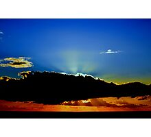 Shining behind clouds #2. In the blue. Photographic Print