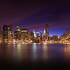 Manhattan z Brooklyn Bridge Park in New York by Zoltán Duray
