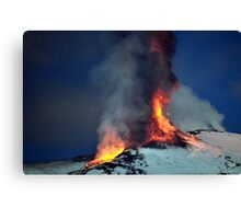 Fire on the snow. (RB EXPLORE) Canvas Print