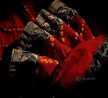 FOLDS IN RED by kamaljeet kaur