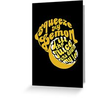 The Lemon Tee Greeting Card