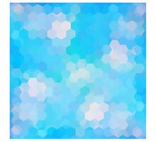 fractal art,polygamel,blue,aquamarine,trendy,modern,design,girly,cute,graphic,cubes by Healinglove