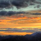 Hanmer Springs Sunset from Conical Hill by Paul Duckett