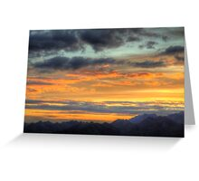 Hanmer Springs Sunset from Conical Hill Greeting Card