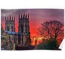 York Minster Sunset - HDR Poster