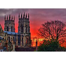York Minster Sunset - HDR Photographic Print