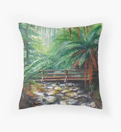 Bridge over Badgers Creek Throw Pillow