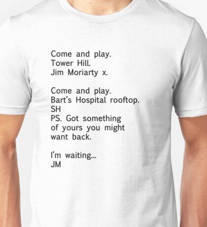 Reichenbach Text 1 (Black) Unisex T-Shirt