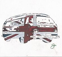 British Bus by Sharon Poulton