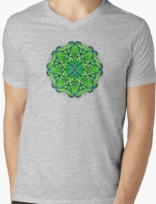 Flower of life mandala Mens V-Neck T-Shirt
