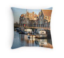 Blakeney Quay, North Norfolk coast Throw Pillow
