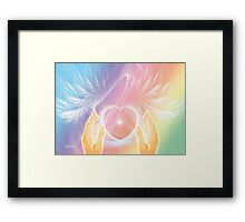Healing with Angels and Rainbows Framed Print