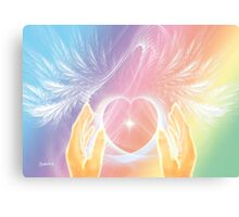 Healing with Angels and Rainbows Canvas Print