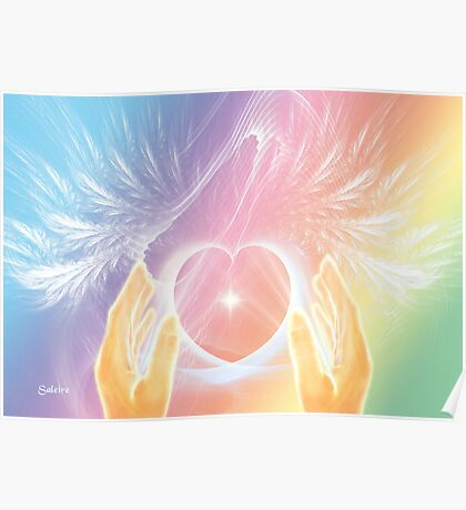 Healing with Angels and Rainbows Poster