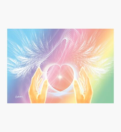 Healing with Angels and Rainbows Photographic Print