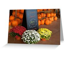Pumpkins and Mums for Sale       ^ Greeting Card